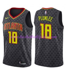 Atlanta Hawks Trikot Herren 2018-19 Miles Plumlee 18# Icon Edition Basketball Trikots NBA Swingman..